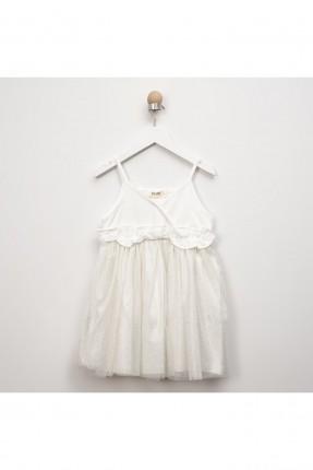 فستان اطفال بناتي مكشكش بنقشة منقطة