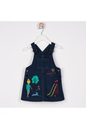 افرول بيبي بناتي جينز مزين برسومات