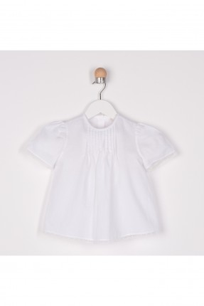 قميص بيبي بناتي بكسرات امامية