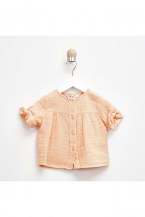 قميص بيبي بناتي مزين بفيونكة