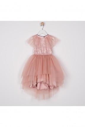 فستان اطفال بناتي تول مطرز