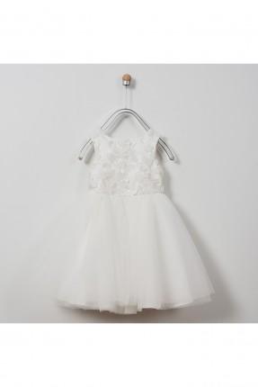 فستان اطفال بناتي مطرز  مزين بالتول
