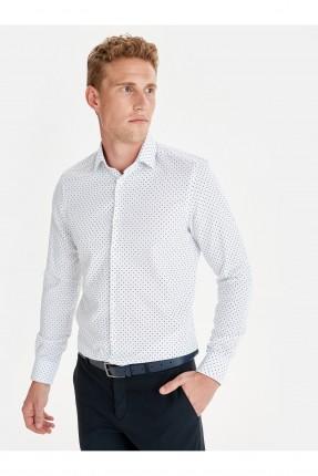 قميص رجالي مزين بنقشة