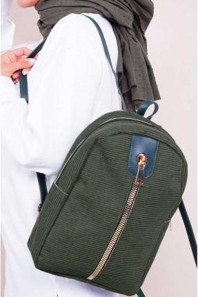 حقيبة ظهر نسائية بسحاب كبير وحمالات