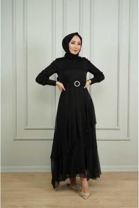 فستان نسائي رسمي سادة اللون