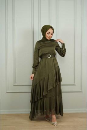 فستان نسائي رسمي مزين بحزام
