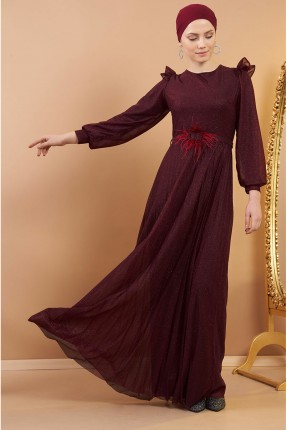 فستان رسمي باكمام بالون