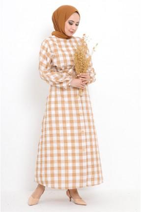 فستان بنقشة كارو