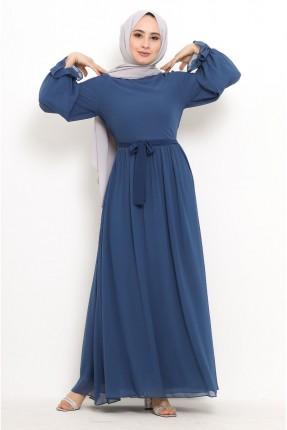 فستان سادة اللون