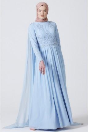 فستان رسمي مطرز بالترتر