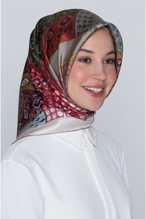 حجاب مزين بنقوش