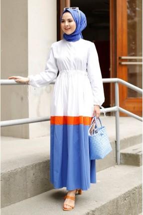 فستان متعدد الالوان