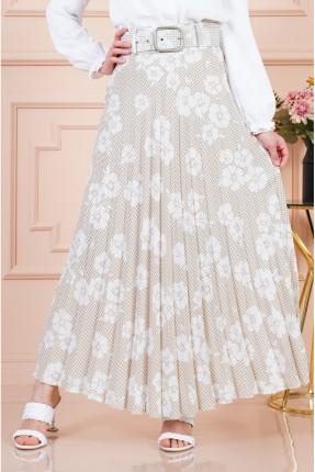 تنورة طويلة بنقشة زهور