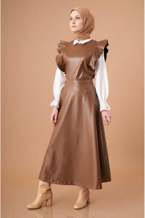 افرول موديل فستان نسائي سادة اللون