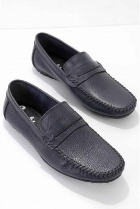 حذاء رجالي سادة اللون - كحلي