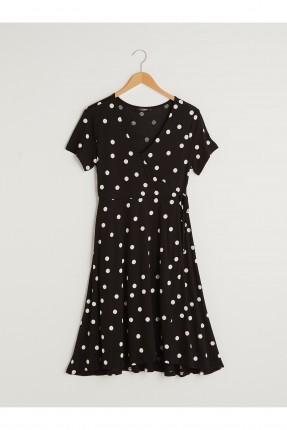 فستان للحامل منقط - اسود
