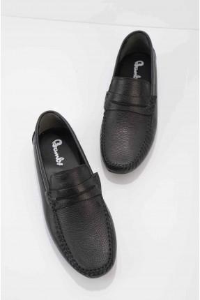 حذاء رجالي سادة اللون - اسود