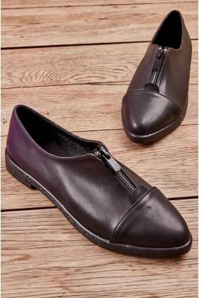 حذاء نسائي سادة بسحاب من الامام