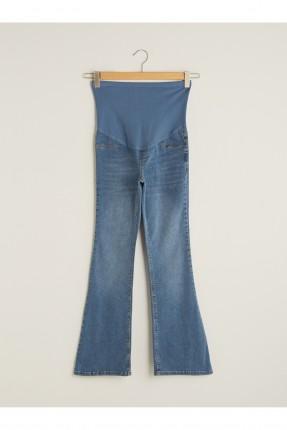بنطال حمل جينز واسع من الاسفل