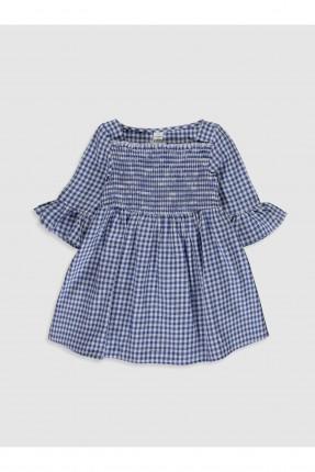فستان بيبي بناتي باكمام مكشكشة
