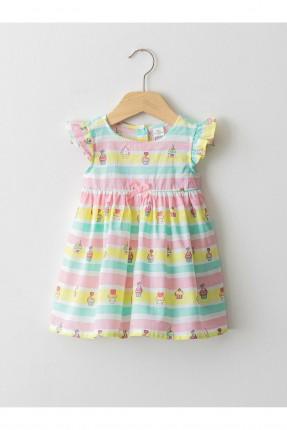 فستان بيبي بناتي مزين برسومات