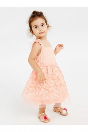 فستان بيبي بناتي مزين بالدانتيل