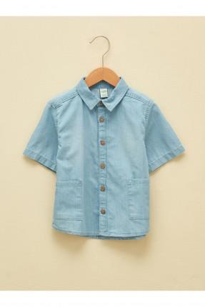 قميص بيبي ولادي جينز بجيب
