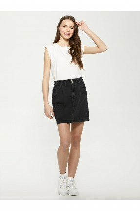 تنورة قصيرة جينز - اسود
