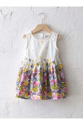 فستان بيبي بناتي بزهور ملونة