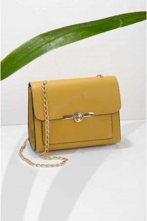 حقيبة يد نسائية بسلسال ذهبي