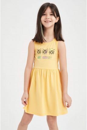 فستان اطفال بناتي بياقة دائرية