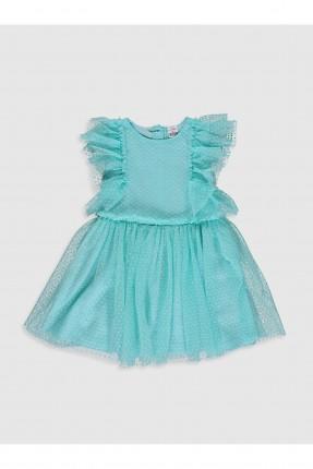فستان بيبي بناتي تول باكتاف مكشكشة