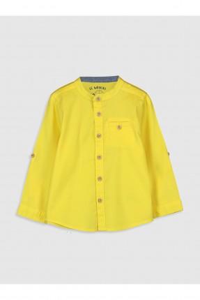 قميص بيبي ولادي سادة بازرار - اصفر