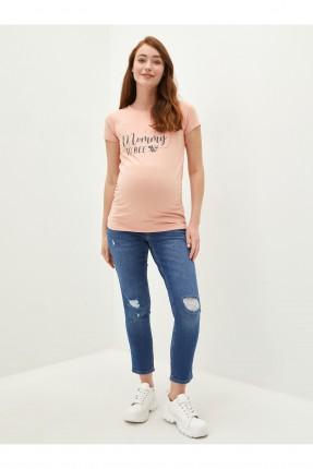 بنطال جينز حمل بشقوق