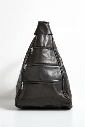 حقيبة ظهر نسائية جلد بسحاب متعدد