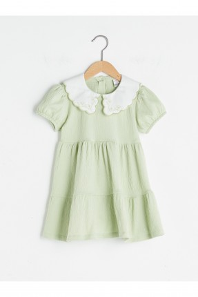 فستان بيبي بناتي بياقة مكشكشة