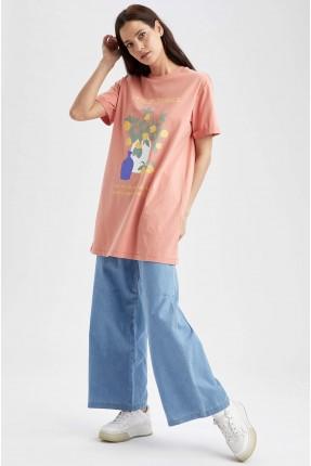 بنطال جينز نسائي واسع الساق