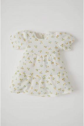 فستان بيبي بناتي بنقشة زهور