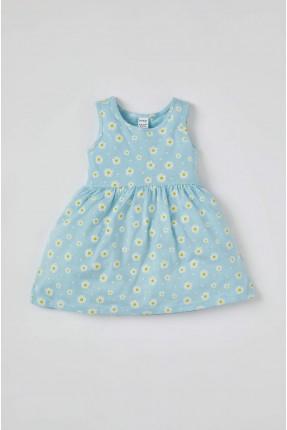 فستان بيبي بناتي مزين بالزهور