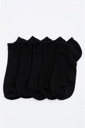 جوارب رجالية سادة عدد 5 - اسود