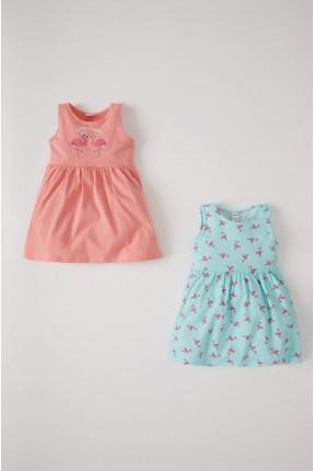 فستان بيبي بناتي بنقشة فلامنغو عدد 2