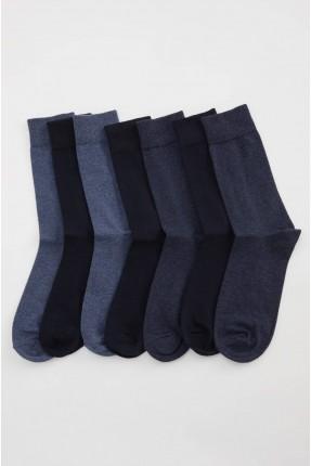 جوارب رجالية سادة عدد 7 - كحلي