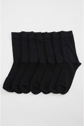جوارب رجالية سادة عدد 7 - اسود