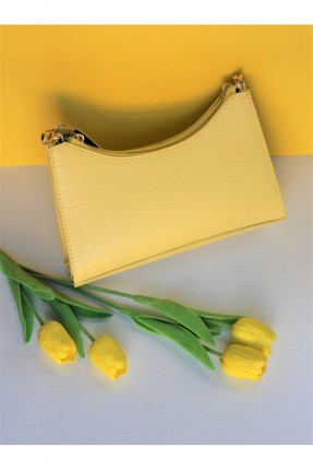 حقيبة يد نسائية سادة اللون - اصفر