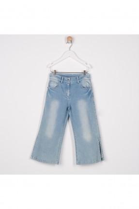 بنطال جينز اطفال بناتي بشقوق جانبية