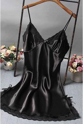 فستان لانجري مزين بالدانتيل