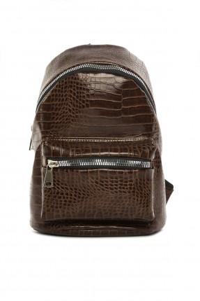 حقيبة ظهر نسائية بنقشة جلد الثعبان