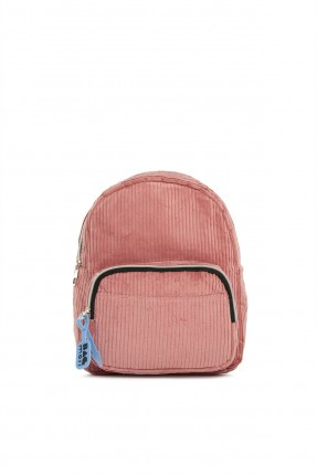 حقيبة ظهر نسائية مخمل - زهري