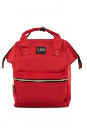 حقيبة ظهر نسائية بحمالات - احمر