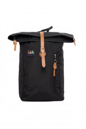 حقيبة ظهر نسائية مزينة بحزام - اسود